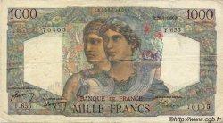 1000 Francs MINERVE ET HERCULE FRANCE  1950 F.41.32 TTB