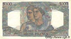 1000 Francs MINERVE ET HERCULE FRANCE  1950 F.41.33 SUP