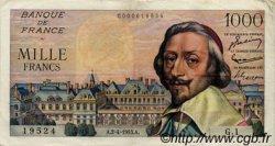 1000 Francs RICHELIEU FRANCE  1953 F.42.01 TTB