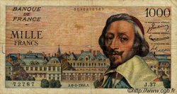 1000 Francs RICHELIEU FRANCE  1954 F.42.05 B+