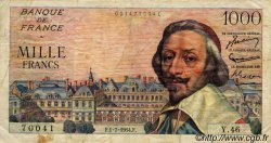 1000 Francs RICHELIEU FRANCE  1954 F.42.06 pr.TB