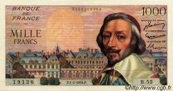 1000 Francs RICHELIEU FRANCE  1954 F.42.06 SUP+