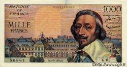1000 Francs RICHELIEU FRANCE  1954 F.42.07 pr.SPL