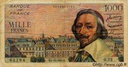 1000 Francs RICHELIEU FRANCE  1954 F.42.08 pr.TB