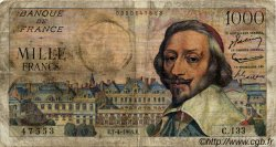 1000 Francs RICHELIEU FRANCE  1955 F.42.12 B