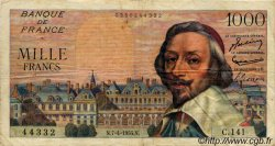 1000 Francs RICHELIEU FRANCE  1955 F.42.12 TB+