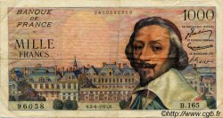 1000 Francs RICHELIEU FRANCE  1955 F.42.14 TTB