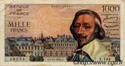 1000 Francs RICHELIEU FRANCE  1955 F.42.16 TB à TTB
