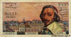1000 Francs RICHELIEU FRANCE  1955 F.42.16 TB+