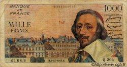 1000 Francs RICHELIEU FRANCE  1955 F.42.17 B