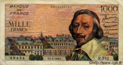 1000 Francs RICHELIEU FRANCE  1956 F.42.19 pr.TTB