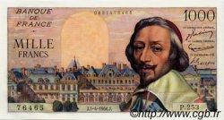 1000 Francs RICHELIEU FRANCE  1956 F.42.20 SPL