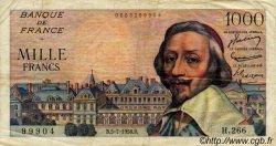 1000 Francs RICHELIEU FRANCE  1956 F.42.21 TTB