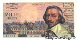 1000 Francs RICHELIEU FRANCE  1956 F.42.21 SUP+ à SPL