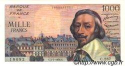 1000 Francs RICHELIEU FRANCE  1956 F.42.21 SUP+ à SPL
