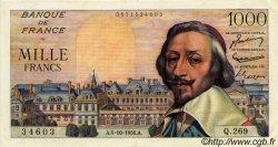 1000 Francs RICHELIEU FRANCE  1956 F.42.22 SUP+