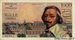 1000 Francs RICHELIEU FRANCE  1956 F.42.22