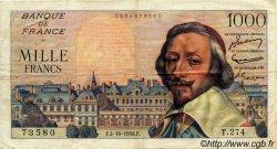 1000 Francs RICHELIEU FRANCE  1956 F.42.22 TTB+
