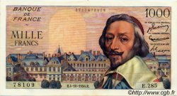 1000 Francs RICHELIEU FRANCE  1956 F.42.22 SUP+