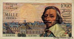 1000 Francs RICHELIEU FRANCE  1956 F.42.24 TTB