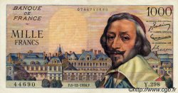1000 Francs RICHELIEU FRANCE  1956 F.42.24 SUP+