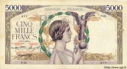 5000 Francs VICTOIRE Taille Douce FRANCE  1935 F.44.03 TB à TTB