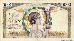 5000 Francs VICTOIRE modifié FRANCE  1938 F.45.01 TB+