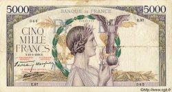 5000 Francs VICTOIRE Impression à plat FRANCE  1939 F.46.02 B+