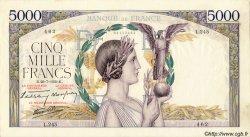 5000 Francs VICTOIRE Impression à plat FRANCE  1939 F.46.08 TTB+
