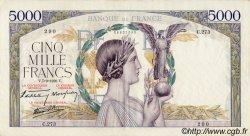 5000 Francs VICTOIRE Impression à plat FRANCE  1939 F.46.09 TTB+