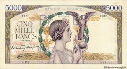 5000 Francs VICTOIRE Impression à plat FRANCE  1939 F.46.13 TTB