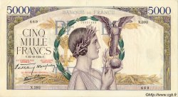 5000 Francs VICTOIRE Impression à plat FRANCE  1939 F.46.14 TTB