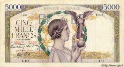5000 Francs VICTOIRE Impression à plat FRANCE  1939 F.46.15 pr.TTB