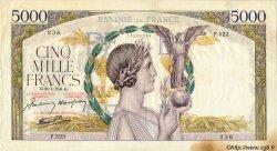 5000 Francs VICTOIRE Impression à plat FRANCE  1941 F.46.20 pr.TTB