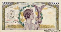 5000 Francs VICTOIRE Impression à plat FRANCE  1941 F.46.21 TTB
