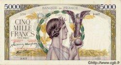 5000 Francs VICTOIRE Impression à plat FRANCE  1942 F.46.32 TTB+ à SUP