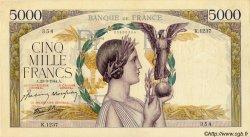 5000 Francs VICTOIRE Impression à plat FRANCE  1944 F.46.50 TTB+