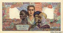 5000 Francs EMPIRE FRANÇAIS FRANCE  1946 F.47.51 pr.SUP