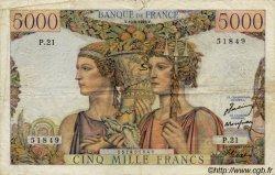 5000 Francs TERRE ET MER FRANCE  1949 F.48 B+