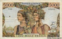 5000 Francs TERRE ET MER FRANCE  1949 F.48 TB à TTB