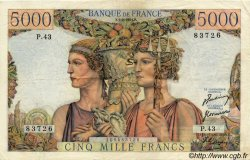 5000 Francs TERRE ET MER FRANCE  1951 F.48.03 TTB