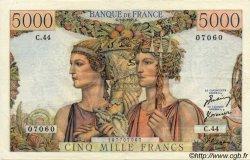 5000 Francs TERRE ET MER FRANCE  1951 F.48.03 TTB+
