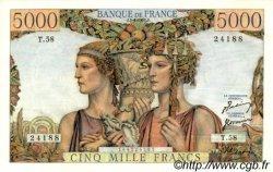 5000 Francs TERRE ET MER FRANCE  1951 F.48.04 pr.SPL