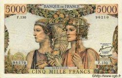 5000 Francs TERRE ET MER FRANCE  1953 F.48.08 TTB+ à SUP