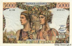 5000 Francs TERRE ET MER FRANCE  1953 F.48.09 SUP+ à SPL