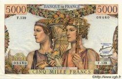 5000 Francs TERRE ET MER FRANCE  1953 F.48.09 SUP à SPL
