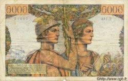 5000 Francs TERRE ET MER FRANCE  1953 F.48.10 TB