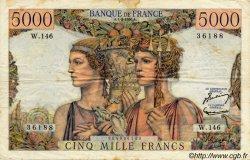 5000 Francs TERRE ET MER FRANCE  1956 F.48.11 TB+ à TTB