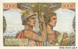 5000 Francs TERRE ET MER FRANCE  1956 F.48.11 SUP