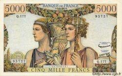 5000 Francs TERRE ET MER FRANCE  1957 F.48.17 TB+